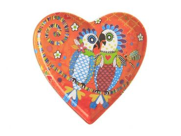 Love Hearts Heart Plate 15.5cm Fan Club