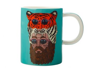 Mulga the Artist Mug 450ML Tiger Man