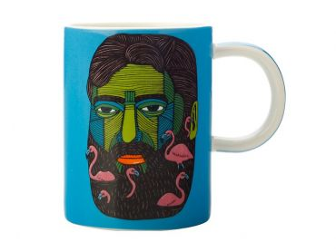 Mulga the Artist Mug 450ML Flamingo Man