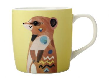Pete Cromer Wildlife Mug 375ML Meerkat Gift Boxed