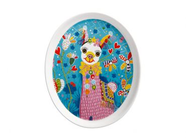 Donna Sharam Rainbow Jungle Plate 16cm Lively & Lovely Gift Boxed