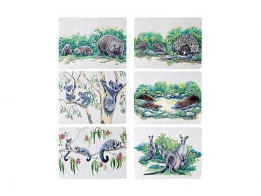 Animals of Australia Placemat Assorted 34x27cm Set of 6