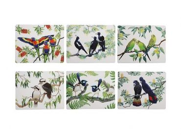 Birdsong Placemat Set of 6 34x26.5cm Assorted