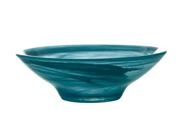Marblesque Bowl 13cm Teal