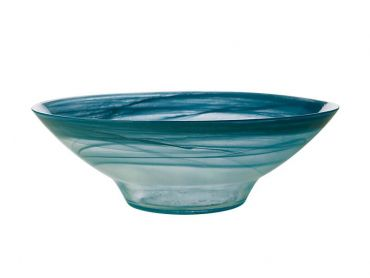 Marblesque Bowl 32cm Teal