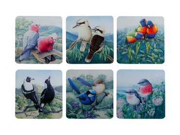 Birds of Australia 10 year Anniversary Coaster Asst 10.5cm Set of 6