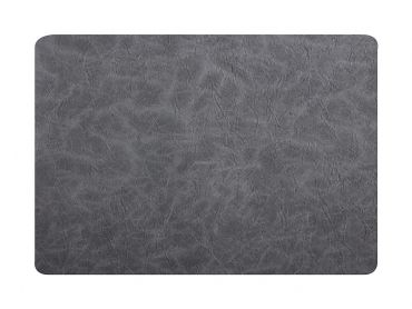 Placemat 43x30cm Leather look Grey