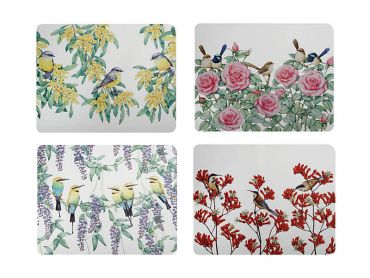 Royal Botanic Gardens - Garden Friends Cork Back Placemat 34x26.5cm Set of 4 Gift Boxed