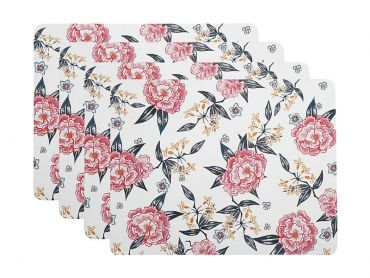 Peony Cork Back Placemat 34x26.5cm Set of 4 Gift Boxed