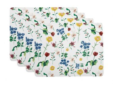 Posy Cork Back Placemat 34x26.5cm Set of 4 Gift Boxed