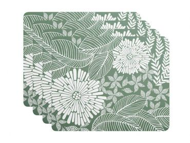 Island Cork Back Placemat 34x26.5cm Set of 4 Green Gift Boxed