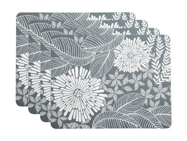 Island Cork Back Placemat 34x26.5cm Set of 4 Grey Gift Boxed