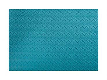 Table Accents Leather Look Placemat 43x30cm Teal Plait