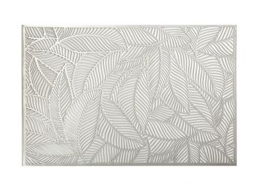 Table Accents Cut-Out Placemat 45x30cm Leaf Silver
