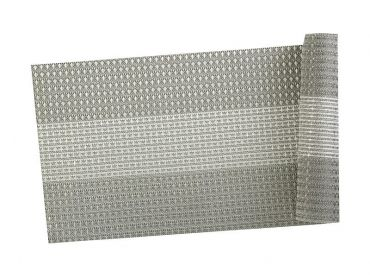 Table Accents Woven Lurex Runner 30x150cm Grey