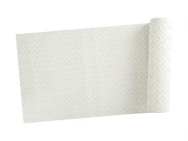 Table Accents Leather Look Runner 30x150cm Ivory Plait