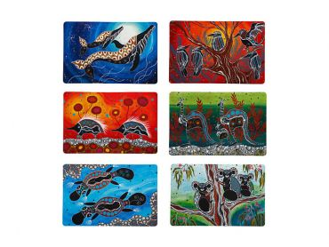 Melanie Hava Journeys Double Sided Placemat 43.5x28.5cm 6pc Gift Pack