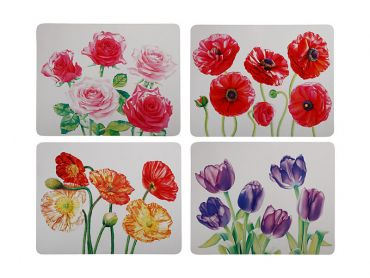 Katherine Castle Floriade Cork Back Placemat 34x26.5cm Set of 4 Assorted Gift Boxed