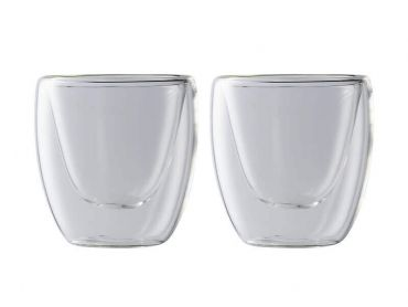 Blend Double Wall Espresso Cup 80ML Set of 2 Gift Boxed