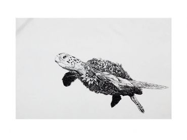 Marini Ferlazzo Tea Towel 50x70cm Green Sea Turtle