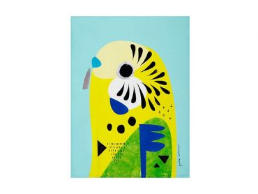 Pete Cromer Tea Towel 50x70cm Budgerigar