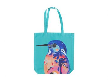 Pete Cromer Tote Bag 41x42cm Azure Kingfisher