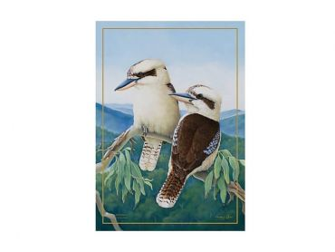 Birds of Australia 10 year Anniversary Tea Towel 50x70cm Kookaburra