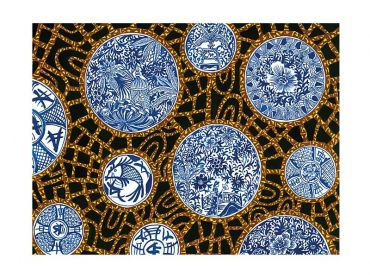 Greg Irvine Tea Towel 50x70cm Batik Toile