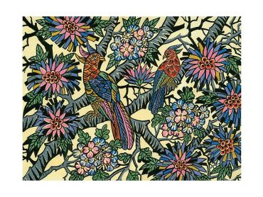 Greg Irvine Tea Towel 50x70cm Birds in Paradise