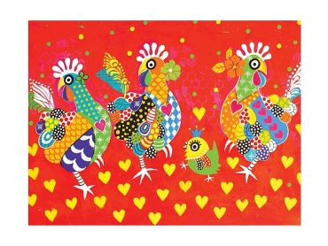 Love Hearts Tea Towel 50x70cm  Chicken Dance