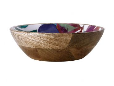 Samba Mango Wood Bowl Enamel Finish 24cm