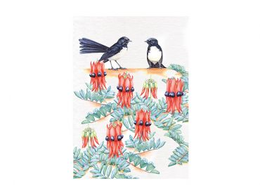 Royal Botanic Gardens Victoria Garden Friends Tea Towel 50x70cm Willy Wagtail