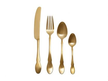 Chester Cutlery Set 16 Piece Gold