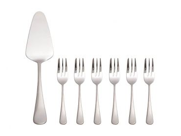 Cosmopolitan Cake Server & Fork Set 7 Piece