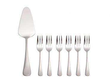 Madison Cake Server & Fork Set 7 Piece