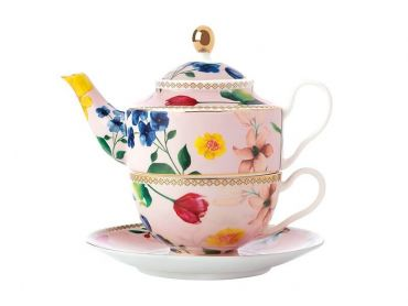 Teas & C's Contessa Tea For One with Infuser 380ML Rose
