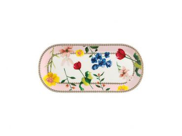 Teas & C's Contessa Oblong Platter 25x11.5cm Rose