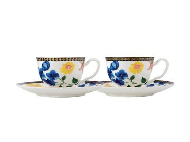 Teas & C's Contessa Demi Cup & Saucer 85ML Set of 2