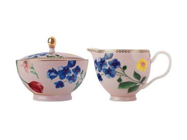 Teas & C's Contessa Sugar & Creamer Set Rose