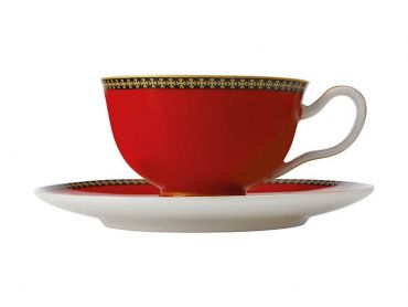 Teas & C's Classic Footed Cup & Saucer 200ML Red
