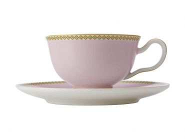 Teas & C's Contessa Classic Footed Cup & Saucer 200ML Pink