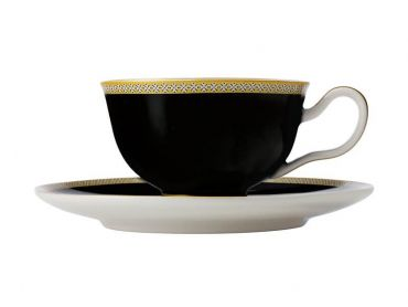 Teas & C's Contessa Classic Footed Cup & Saucer 200ML Black