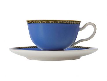 Teas & C's Classic Footed Cup & Saucer 200ML Blue