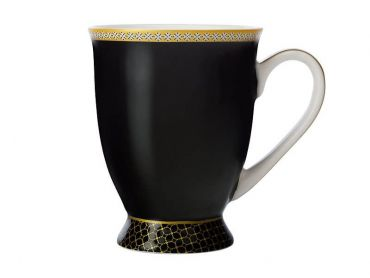 Teas & C's Contessa Classic Footed Mug 300ML Black
