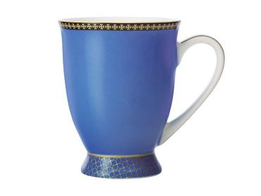 Teas & C's Contessa Classic Footed Mug 300ML Blue