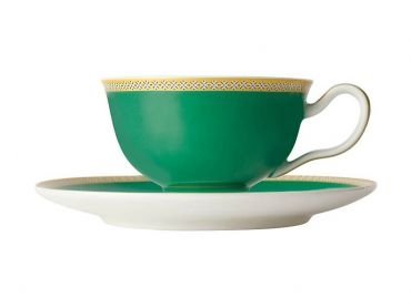 Teas & C's Classic Footed Cup & Saucer 200ML Green