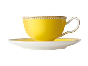 Teas & C's Classic Footed Cup & Saucer 200ML Yellow
