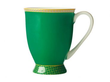 Teas & C's Contessa Classic Footed Mug 300ML Green