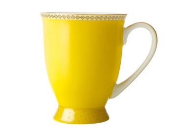 Teas & C's Contessa Classic Footed Mug 300ML Yellow