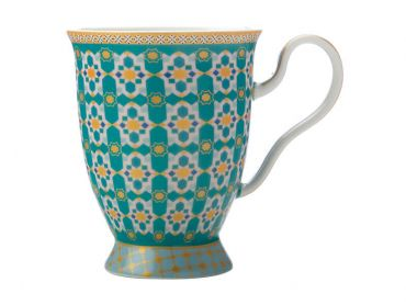 Teas & C's Kasbah Footed Mug 300ML Mint Gift Boxed